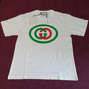 Gucci White Logo Printed Cotton Men